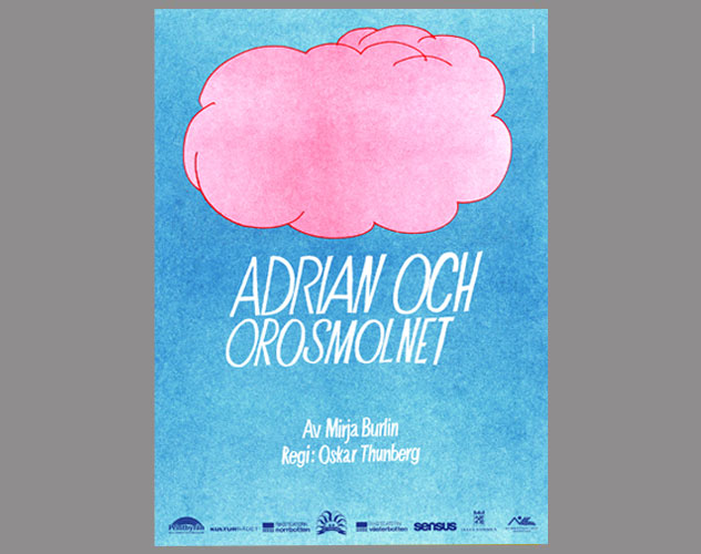 Affisch Adrian och orosmolnet